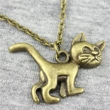 30x22mm Cute Cat Pendant Necklace