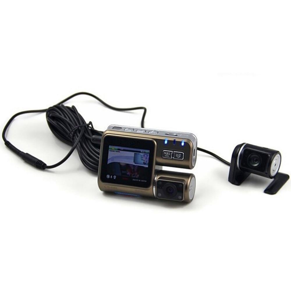 I1000 Dual Lens Camcorder Dual Camera HD 1080P with Rear 2 Cam Vehicle View Dashboard Cameras stock Car DVR Black Box Dash Cam