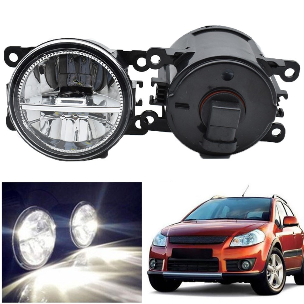Car-styling 2pcs/set Fog Lights For <font><b>SUZUKI</b></font> <font><b>SX4</b></font> GY Hatchback 2006-2014 Front Bumper LED High Brightness Halogen Fog Lamp image