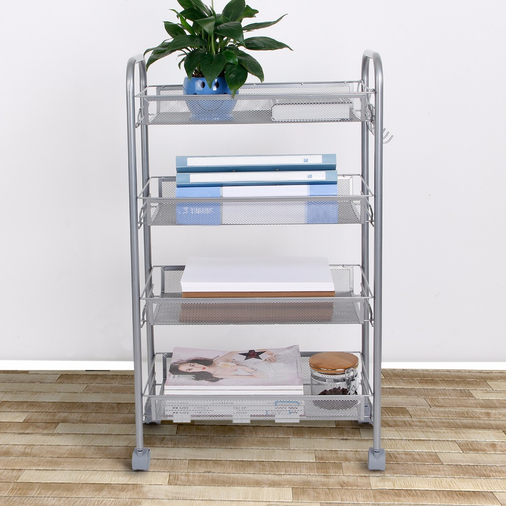 Lifewit 4 Tier Multi Purpose Rolling Cart Removable Kitchen