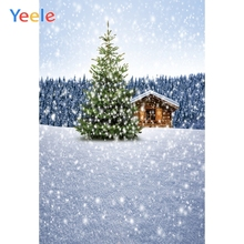 Yeele Winter Landscape Trees House Fallen Snowflake Photography Backdrops Personalized Photographic Backgrounds For Photo Studio