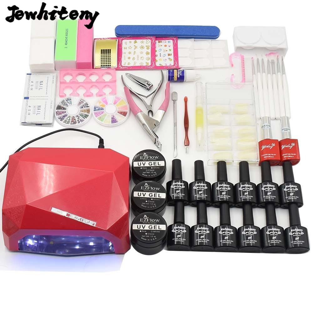 Nail Manicure Tool sets <font><b>UV</b></font> LED Lamp nail dryer 10ml 12 color soak off Gel Nail Polish base gel top <font><b>coat</b></font> <font><b>uv</b></font> build gel nail tools