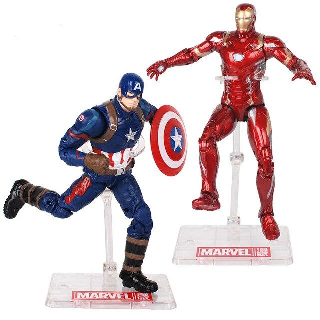Encaixotado 18 centímetros MARVEL Super Heroes Os Vingadores 4 Endgame Thanos Capitão América Hulk Brinquedos Action Figure set Brinquedos Do Homem Aranha presentes