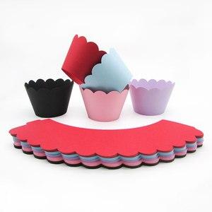 Image 4 - 3 Tier stojak na babeczki papieru stałe paski Cupcake obwolut dekoracje na ślub urodziny przyjęcie świąteczne deser tabela dostaw