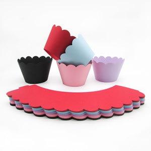 Image 4 - 3 層のカップケーキスタンド紙固体ストライプのカップケーキラッパー装飾結婚式誕生日ホリデーパーティーデザートテーブル用品