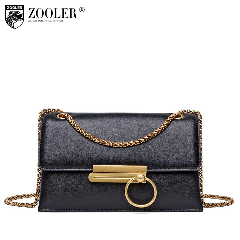 Hottest-Fashion chain genuine leather bag ZOOLER woman shoulder bags - Handbags