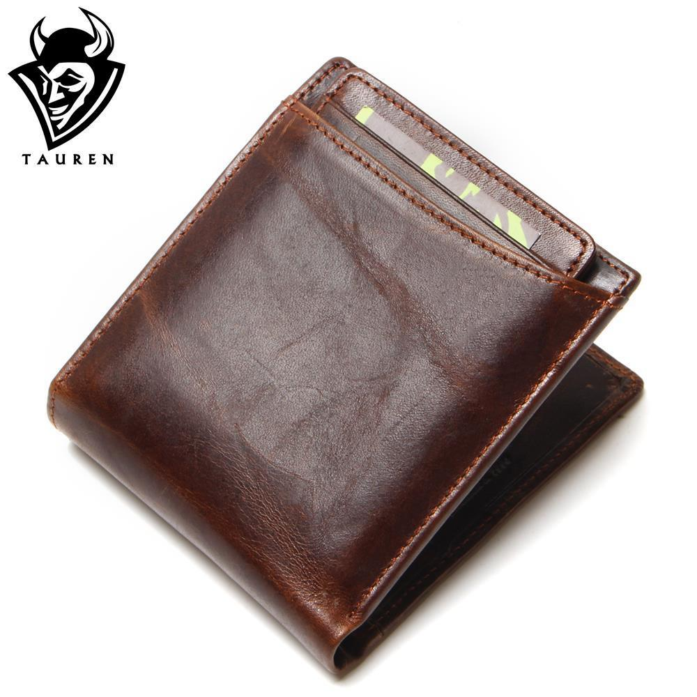 Hot 2018 Vintage Casual Men Wallets Crazy Horse Genuine Leather Cowhide Men Short Bifold Multi-Function Card Holder Wallet Purse williampolo mens mini wallet black purse card holder genuine leather slim wallet men small purse short bifold cowhide 2 fold bag