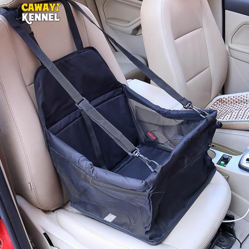 CAWAYI Perrera de viajes cubierta de asiento de coche plegable para mascotas portadores de bolsa para perros, gatos, transportin perro autostoel hond