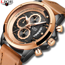 2019 LIGE Men Watches Top Brand Luxury Men Fashion Sport Watch Leather Quartz Waterproof Automatic Date Clock Relogio Masculino цена и фото
