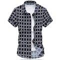2016 Новая Мода Мужская Цветок Рубашка Летом С Коротким Рукавом Slim Fit рубашки Мужчин Высокое Качество Мужская Цветочные Рубашки Мужчин Плюс Размер 6XL