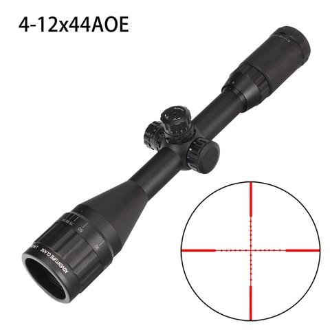 caca 4 12x44 ao riflescope tatico visao optica tamanho completo mil dot vermelho verde azul