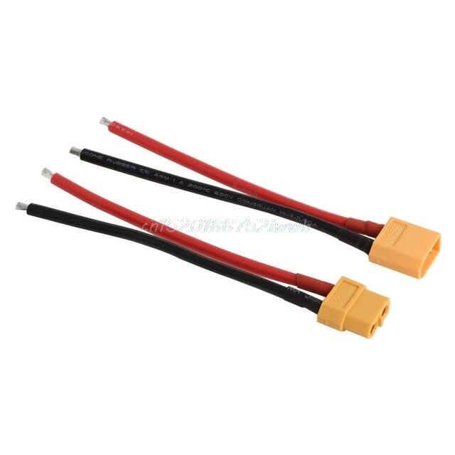 1 paire de XT60 batterie mâle femelle connecteur prise avec silicium 14 AWG fil # T026 # 2