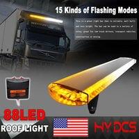 88 Led strobe flash warning light bar Car Trucks Beacons Safety emergency lights Lightbar 12V/24V Amber Yellow White Blue