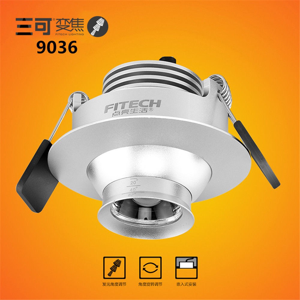 High quality 3w cob led Zoom downlights Showcase Light for Museums Clothing store background wall light AC110-240V 2pcs/lot led track light50wled exhibition hall cob track light to shoot the light clothing store to shoot the light window