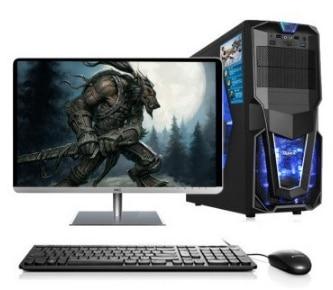 Gaming desktop Intel i3 i5 i7 2GB 4GB 8gb ram 120Gb 1tb HDD with 18 5