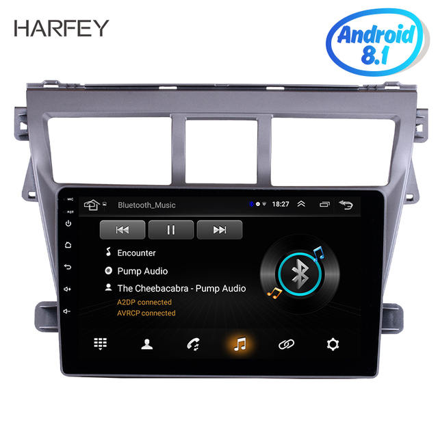 """Harfey 9"""" Android 8.1 GPS Navigation System Radio For Toyota VIOS 2007-2012 Support TPM DVR 3G WiFi Remote Control Bluetooth"""