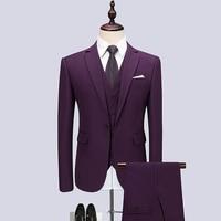 Niceness 2019 Famous Brand Mens Suits Wedding Groom Plus Size 6XL 3 Pieces(Jacket+Vest+Pant) Slim Fit Casual Tuxedo Suit Male