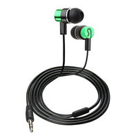 3 5mm In Ear Stereo Earphone Headset With Earbud Listening Music For IPhone HTC Smartphone MP3