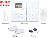 Most advanced Wifi Alarm GSM Smart Home Automation Burglar Alarm Wifi Alarm System with Touch Screen panel