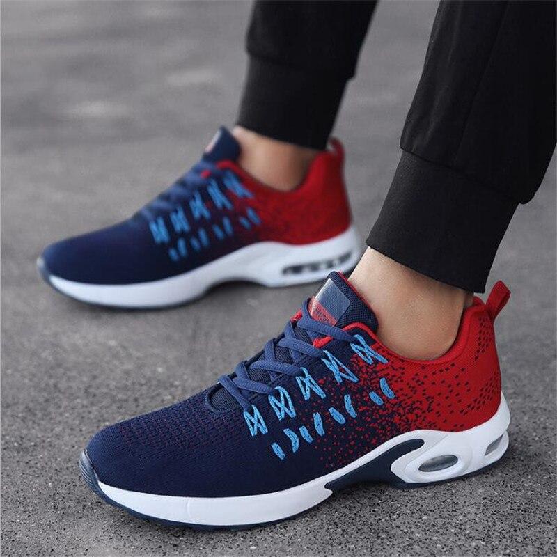 QIAOJINGREN Men's Casual Shoes Sneakers Summer Mesh Breathable Comfortable Men Shoes Loafers footwears Slipon Walking Big