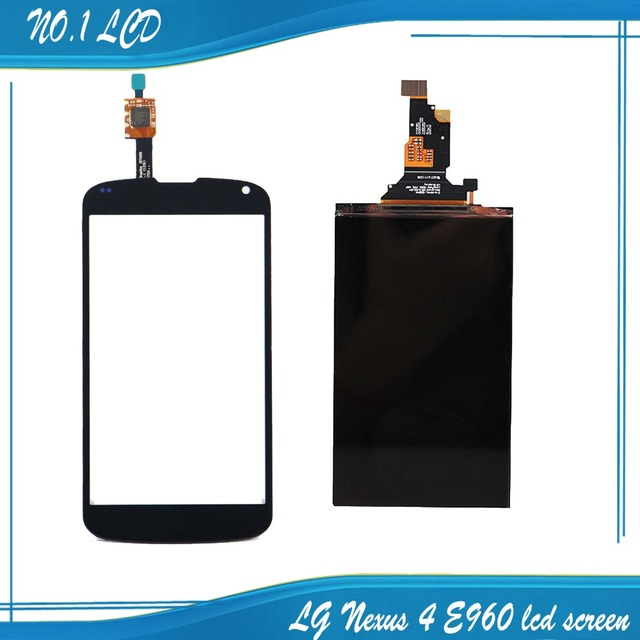 Nueva negro pantalla lcd + digitalizador de pantalla táctil para lg nexus 4 e960 reemplazo de piezas de repuesto