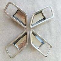 ABS Chrome Interior Door Handle For Suzuki Vitara 2015 Automobile Decoration Box Ring Car Styling Stickers Accessories 4pcs