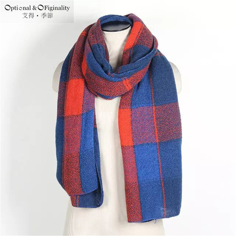 2016 New Large Soft Scarf Pashmina Winter Warm font b Tartan b font Scarves Design Mix