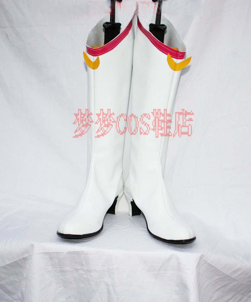 Anime Sailor Moon Tsukino Usagi Cosplay Boots costume Stage Version White COS shoes Custom Made Halloween Free Shipping