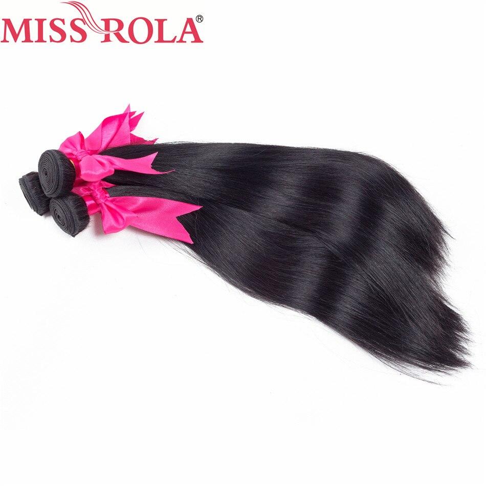 Miss Rola Haar Braziliaanse Steil Haar Weave 8-26 Inches 100% - Mensenhaar (voor zwart) - Foto 5