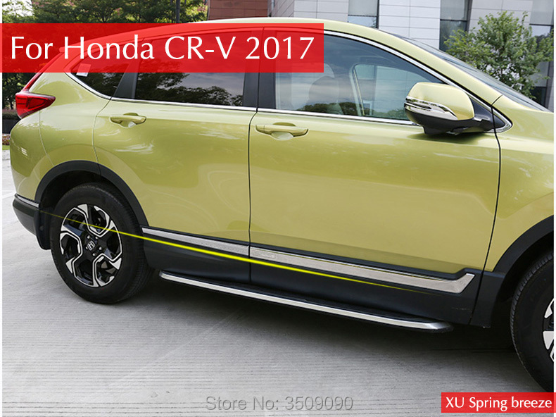 For Honda CRV CR-V 2017 2018 Car Door Body Side Molding Protector Trim Strip Decoration Antirub Garnish Car styling Car Stickers