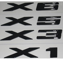 Gloss Black ABS Number Letters Words Car Trunk Badge Badges Emblem Emblems for BMW X1 X3 X5 X6