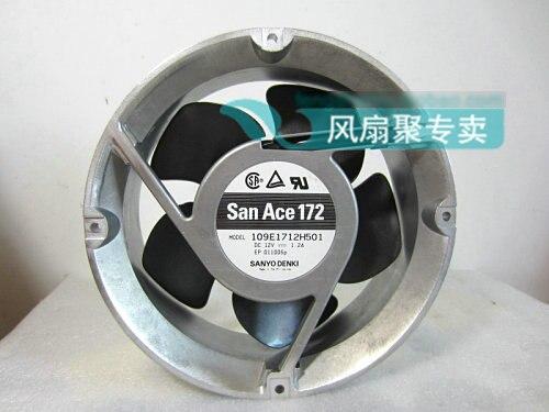 все цены на Original Sanyo 109E1712H501 17cm 17251 12V 1.2A round aluminum frame cooling fan онлайн