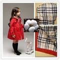 Otoño de los niños Gruesos de Algodón de Alta Calidad de Color Sólido Trench Coat Jacket para Niños Chicas Ropa