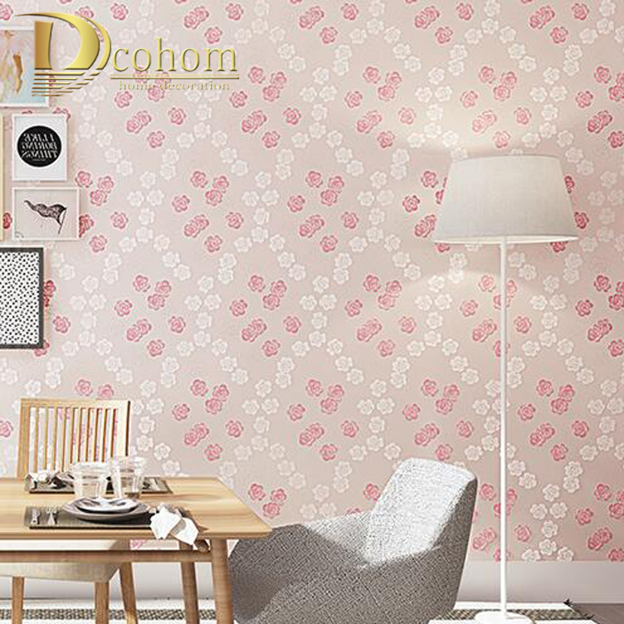 Pink And Purple Wallpaper For A Bedroom Aliexpresscom Buy Pink Beige Purple Pastoral Floral Wallpaper