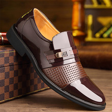 2019 New Fashion Business Dress Men Shoes Classic Leather MenS Suits Slip Wedding Oxfords