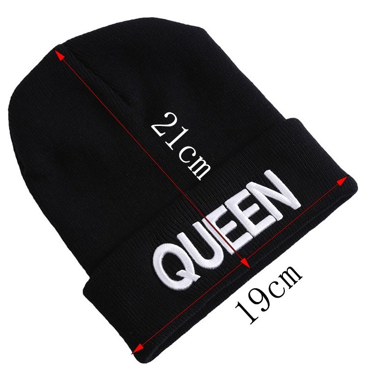 HTB1ZqP2XsfrK1Rjy0Fmq6xhEXXaY - Beanies Cap KING QUEEN Letter Embroidery Warm Winter Hat Knitted Cap Hip Hop Men Women Lovers Street Dance Bonnet Skullies Black