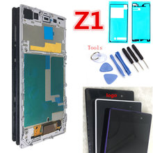 "Keine Tote Pixel 5,0 ""Original für SONY Z1 Display C6903 L39H LCD Für SONY Xperia Z1 LCD Display Touch screen Digitizer mit rahmen(China)"