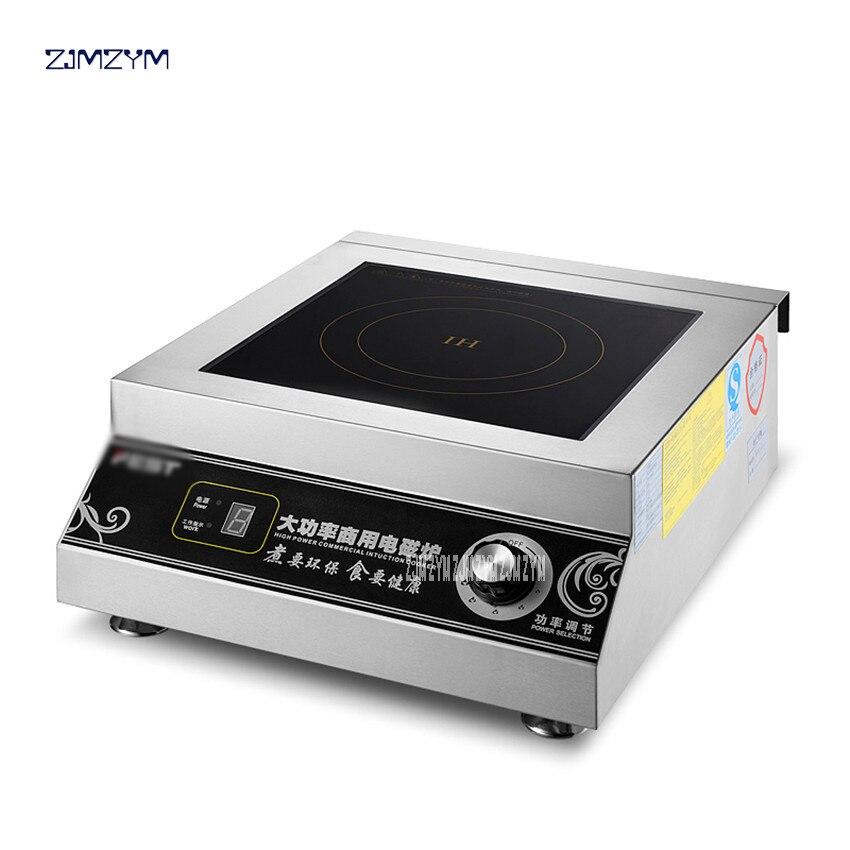 Induction commerciale cuisinière 5000 W Haute puissance Électromagnétique four Hôtel four Industriel 6 Puissance de Feu Restaurant Cuisinière RC-5KWB