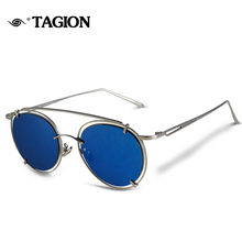 Brand Designer TAGION Sunglasses Women Retro Sunglass Female Gradient Sun Glass Men Vintage Points 7colors 6841(China)