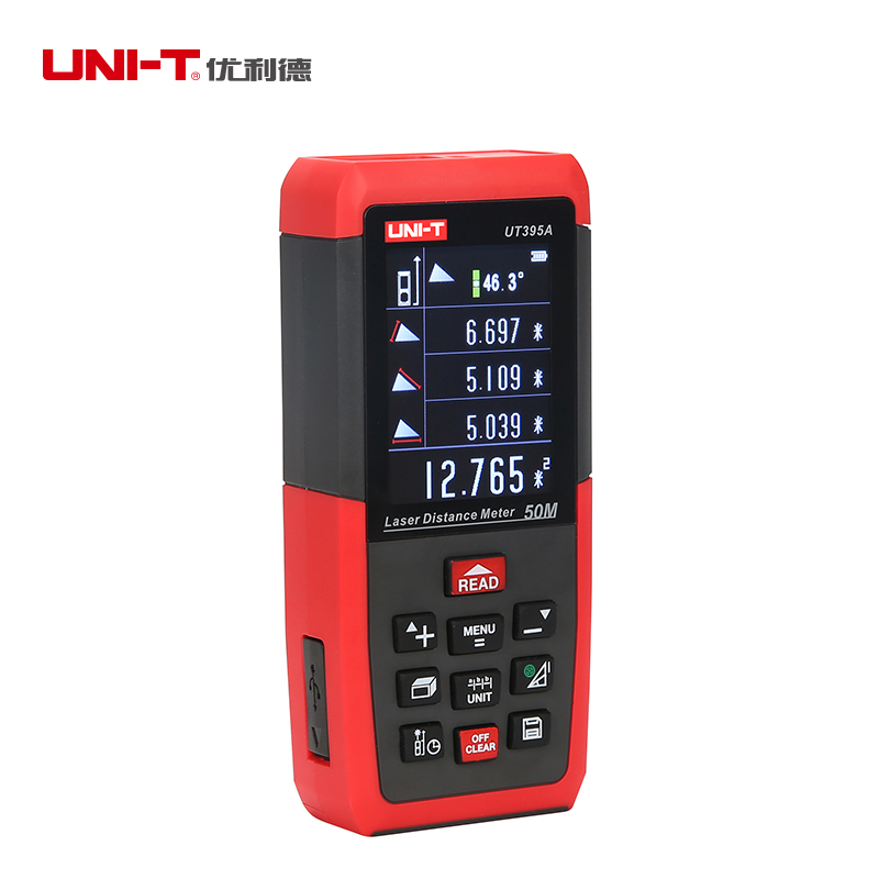 UNIT UT395A Professional Laser Distance Meters 50m Rangefinder USB Connector Universal Electron Level Ruler unit ut395a ut395b ut395c laser distance meters 50m 70m 100m rangefinder best accuracy software data calculate continuous measur