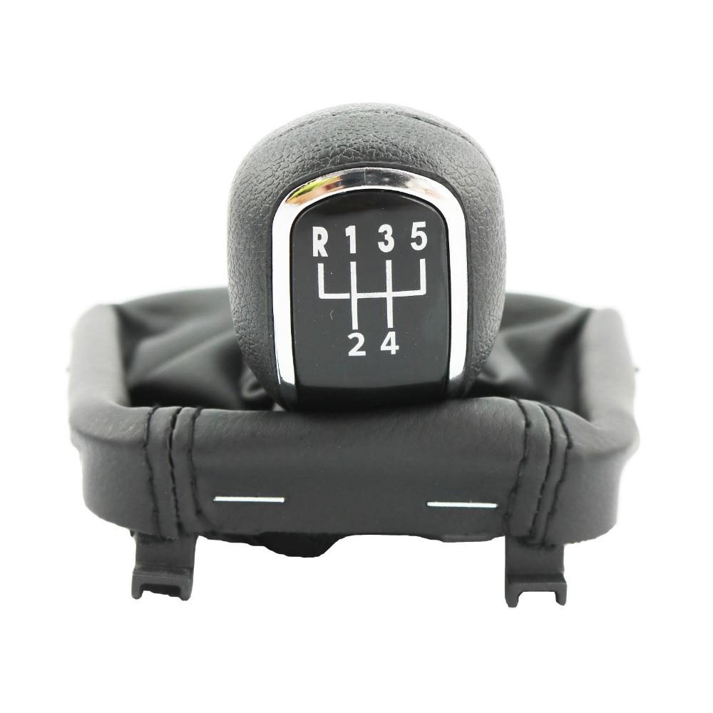 Arranque de 5 velocidades Car Stick Gear Shift Knob Gaiter para Skoda Superb 2 MK2 2008 2009 2010 2011 2012 2013