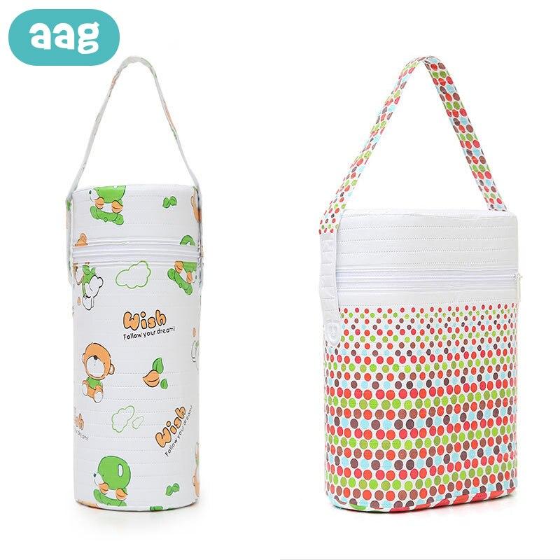 AAG Baby Bottle Insulation Holder Bag Baby Food Storage Milk Feeding Bottle Warmer Thermal Bag Infant Stroller Hanging Bags 0
