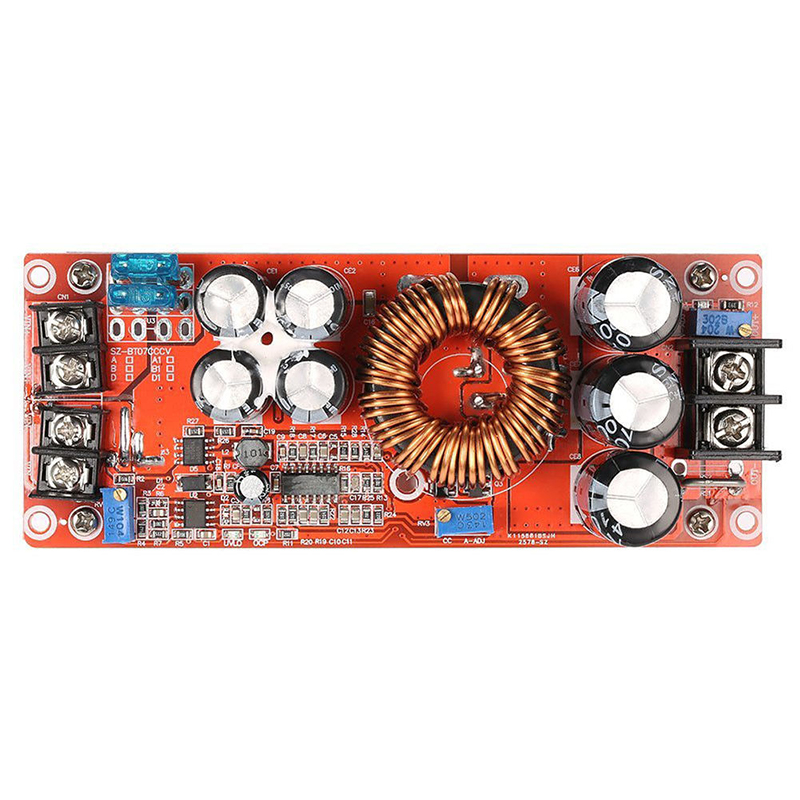 1pc New 1200W 20A DC Converter Power Supply Module Step Up In 8 60V 12 83V Continuous Adjustable Boost Module