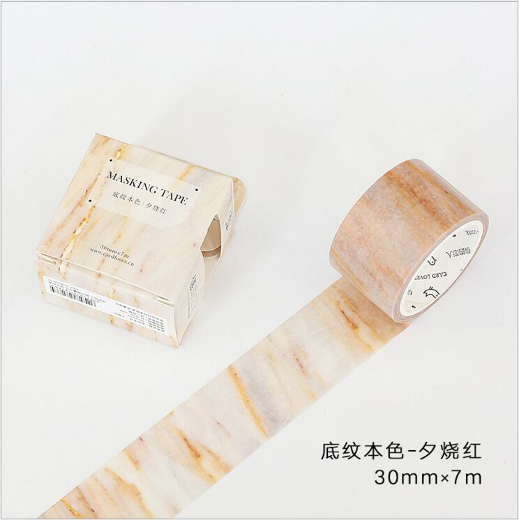 30mm Wide Wood Grain Red Sunset Shading Color Decoration Washi Tape DIY Planner Diary Scrapbooking Masking Tape Escolar