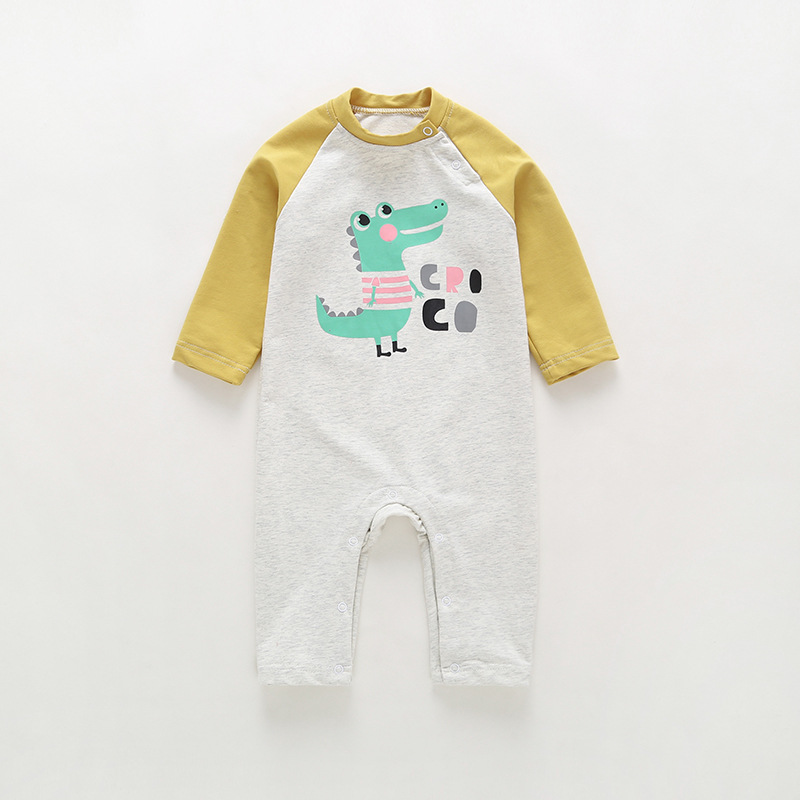 VTOM Spring Autumn Baby Rompers Infant  Long-Sleeved Jumpsuits Boys Girls Clothes FS01