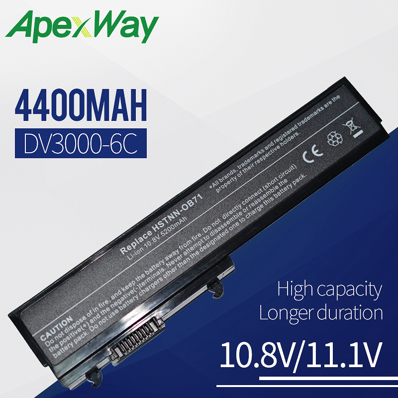 Apexway Аккумулятор для ноутбука HP Pavilion dv3000 dv3100 dv3500 HSTNN-CB71 HSTNN-OB71 батарея HSTNN-XB70 HSTNN-XB71