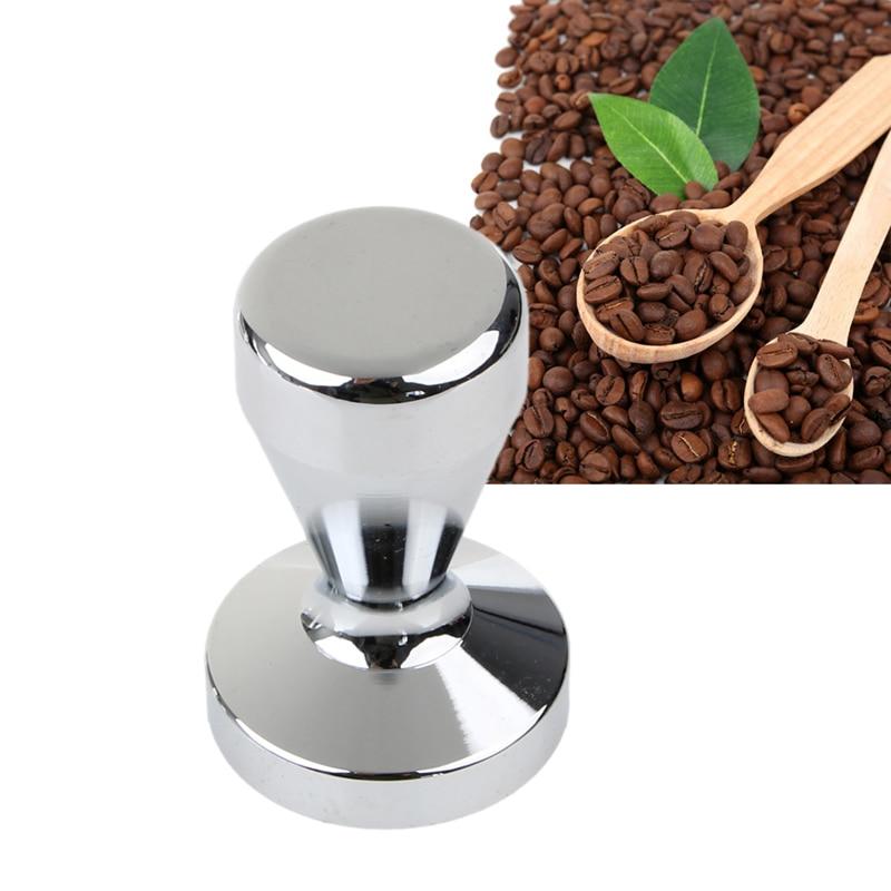 51mm Handheld Stainless Steel Coffee Press Cafe Tamper Barista Flat Base Tool