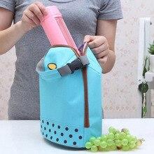 Портативный кулер сумка изоляцией холст обед мешок Термальность еду для пикника Bento Lunch Сумки Популярные