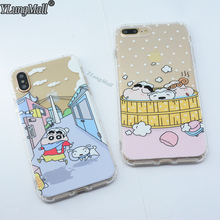 YLungMall Fundas for iPhone X Case Crayon Shin Chan Shockproof Protect Cover Clear Soft TPU Coque for iPhone 7 8 6S 6 Plus Cases