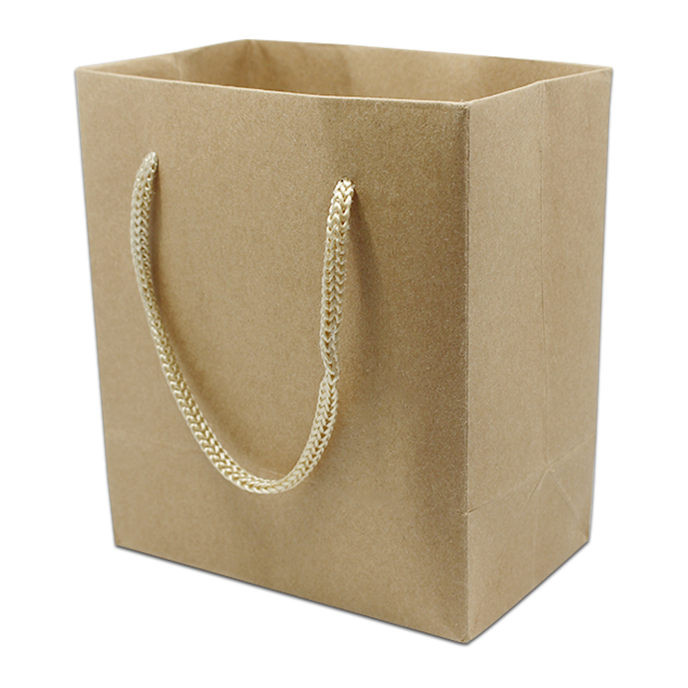 5Pcs/Lot Wedding Gift Jewelry Candy Shopping Packing Handle Bag Boutique Brown Doypack Kraft Paper Package Bags With handle
